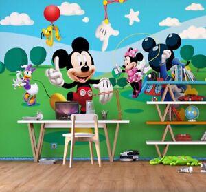 Disney wall mural wallpaper children's bedroom Mickey Mouse PREMIUM white comics