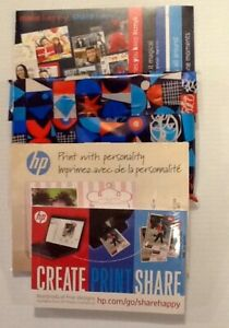 Hewlett-Packard Printer 2015 lot of photo paper greeting cards envelopes New