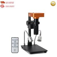 21MP Microscope Camera Stand Kit HDMI 1080P 60FPS 2K w/ 120X Lens For PCB Repair