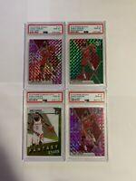 James Harden PSA 10 4 Card Lot Panini Mosaic Optic Rockets Nets Gem Mint Pink
