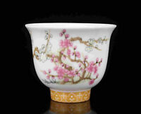 China Old Collectible Hand Painting Plum Blossom Jingdezhen Porcelain Cup