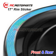 Holographic Laser Silver Chrome Rim Sticker For Ducati Monster 797 750 821(Fits: Ducati GT)