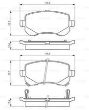 Bremsbelagsatz, Scheibenbremse für Bremsanlage Hinterachse BOSCH 0 986 494 496