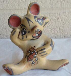Santa Clara Pottery Way Cute Chipmunk Signed Margaret & Luther Gutierrez