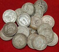 1911-1919 GEORGE V STERLING SILVER SHILLINGS CHOICE OF YEAR CLEAR DATE