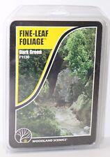 OO HO Scale Woodland Scenics Fine Leaf Foliage Dark green F1130 FNQHobbys