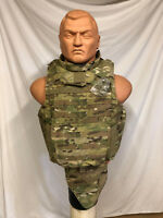 KDH MULTICAM SOLDIER PLATE CARRIER FULL SYSTEM W/3A INSERT, PLATES COLLAR, ETC..