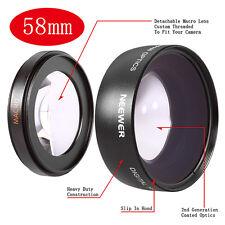 Pro 58mm 0.45x HD Wide Angle Macro Lens for Canon 70D 60D 700D 650D 600D 550D 7D