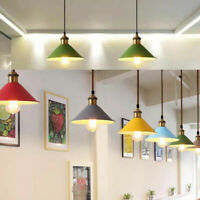 Vintage Modern Retro Metal Coolie Lampshade Ceiling Pendant Shade Fitting UK