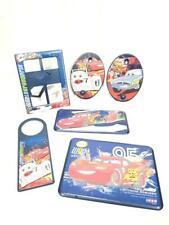 Disney Cars 6 Pc. Bedroom Decor Set - 3 Wall Plaques Photo Frame 2 Coat Hooks