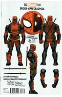 Spider-man Deadpool #2 B McGuinness 1:10 Variant Marvel Comic Book 2016 NM