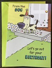 Happy Birthday Hallmark Greeting Card From The Dog Humorous