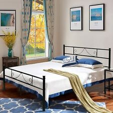 Twin Size Full Size Metal Bed Frame with Headboard Footboard Mattress Foundation