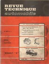 REVUE TECHNIQUE AUTOMOBILE 288 RTA 1970 ETUDE RENAULT 4 EVO SIMCA 1301 1967 70