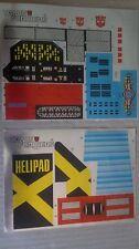 A Transformers replacement sticker/decal sheet for G1 Metroplex