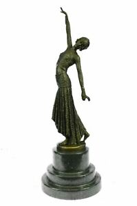 Signed D.H.Chiparus bronze statue, art deco dancer sculpture Figurine Figure Art
