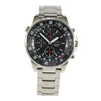Seiko Criteria SNDA31 P1 Silver Black Dial Men's Chronograph Quartz Watch