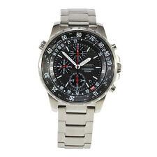 Seiko Criteria SNDA31 P1 Silver Black Dial Men's Chronograph Quartz Watch