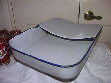 """Vintage Porcelain Enamel Hospital Ware Bed Pan 16"""" x 11 1/2"""""""