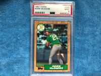 1987 Topps Mark McGwire ROOKIE CARD PSA 9, Oakland Athletics