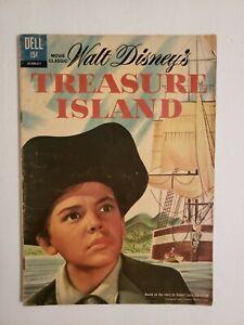 Walt Disney's Treasure Island #211 Dell 1962 Movie Classic Reprint * 1 Book Lot