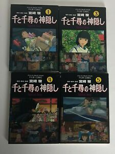 Lot 4 SPIRITED AWAY Anime books All Japanese Language 1 3 4 5 Studio Ghibu