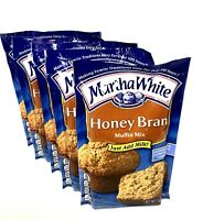 Martha White Honey Bran Muffin Mix 7.5 0z Quick Easy ~ Pack of 5