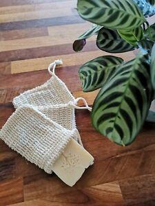 Natural Sisal Soap Bag. Exfoliating Soap Saver Pouch/Holder. UK Seller