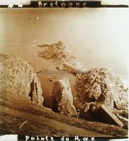 Punto Raz Bretagna Francia Foto Stereo PL59L1n20 Placca Da Lente Vintage