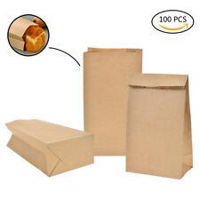 100x Kraftpapiertüten Geschenktüten Bodenbeutel Kraftpapierbeutel 6.5x3.54inch