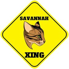 Yellow Aluminum Crossing Sign Savannah Cat Xing Cross Diamond Street Signal