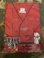 Vtg Nip Jayson Men'S Shave Coat Elbow Sleeve Red With Black Trim L@K!