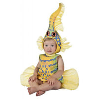 Baby Infant Toddler Anne Geddes Yellow Goby Fish Halloween Costume Tunic Hood