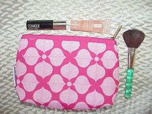 Clinique Lot-Bronzer Brush Full Sz/Chubby Lash Mascara/Moisture Surge/Makeup Bag