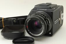 【TOP MINT】 Hasselblad 501C w/C 80mm F/2.8 + A12III + STRAP,HOOD From Japan #1665