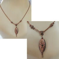 Knot Necklace Copper Pendant Celtic Jewelry Handmade Chain Women Fashion New