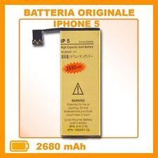 BATTERIA GOLD MAGGIORATA per iPhone 5S 2680mah spedito da italia veloce posta1