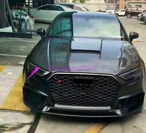 Front Engine Hood Bonnet Cover Trim Fit For Audi A3 S3 RS3 2013-2019