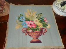 Hand stitched antique tapestry picture