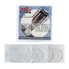 Set 12pcs Acoustic Guitar Strings Stainless Steel Strings for 12 String Guitar
