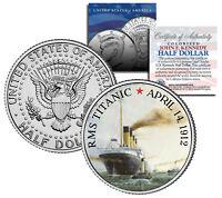 "RMS Titanic Ship ""100th Anniversary"" Official JFK Kennedy Half Dollar US"