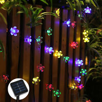 Solar LED String Lights Butterfly/Cherry Garden Patio Outdoor Party Decor USA