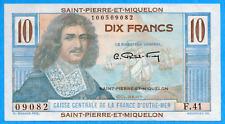 Saint Pierre Et Miquelon 1950-1960 10 Dix Francs Note - Choice Uncirculated