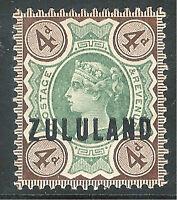 Zululand 1888 green/deep-brown 4d mint SG6