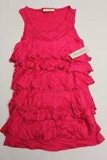 NEW Girls Shirt Top Blouse Tank Size 10 - 12 Large Pink Sleeveless Summer Ruffle