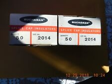 (100) Buchanan 2014 Splice Cap Insulators 2 boxes of 50