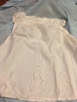 Vintage Christening Baby Dress with Pantilets Embroidered Sheer Cotton 1900s