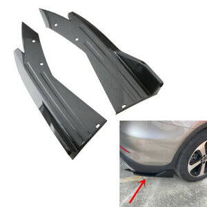 2pcs Spoiler Angle Splitter Diffuser Protector Fit For Car Rear Lip Side Skirts