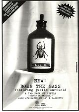 """NEWSPAPER CLIPPING/ADVERT 24/9/94PGN40 10X7"""" BOMB THE BASS : BUG POWDER DUST"""
