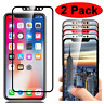 2-Pack Full Coverage Tempered Glass Screen Protector HD Cover for Apple iPhone X